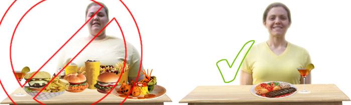 gesundes essen und richtige mengen sind entscheidend. Black Bedroom Furniture Sets. Home Design Ideas